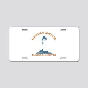 Martha's Vineyard MA - Map Design. Aluminum Licens