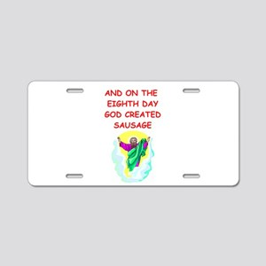 sausage Aluminum License Plate