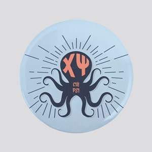 Chi Psi Octopus Button