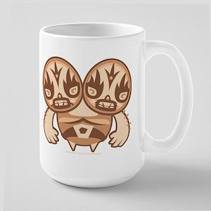 Lucha Masked Wrestler Large Mug