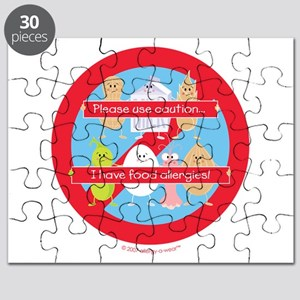 Please Use Caution... I Have Food Allergies Puzzle