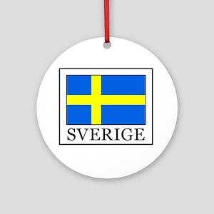 Sverige Round Ornament