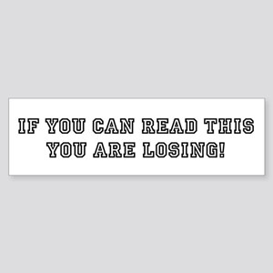 If you can read this: Sticker (Bumper)