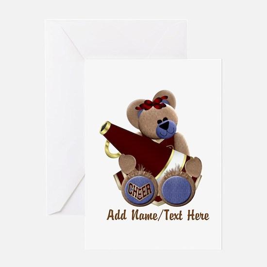 Teddy Chearleader Greeting Card