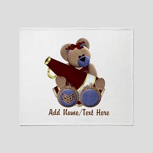 Teddy Chearleader Throw Blanket