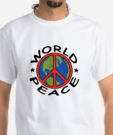 World Peace White T-Shirt