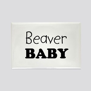 Beaver baby Rectangle Magnet