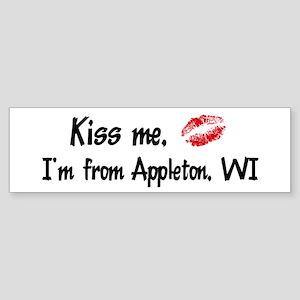 Kiss Me: Appleton Bumper Sticker
