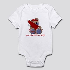 Teddy Cheerleader (red) Infant Bodysuit