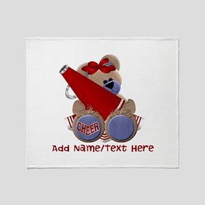 Teddy Cheerleader (red) Throw Blanket