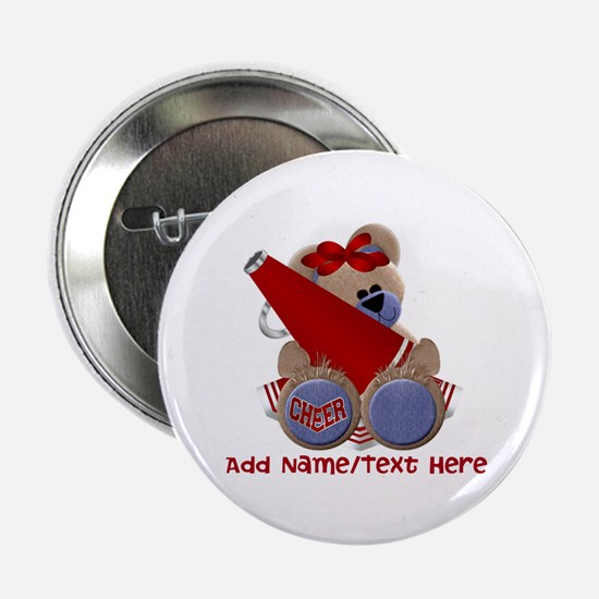"Teddy Cheerleader (red) 2.25"" Button"