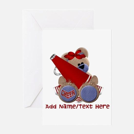 Teddy Cheerleader (red) Greeting Card