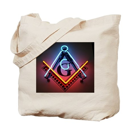 Neon Blue Lodge Tote Bag