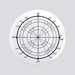 "Math Geek Unit Circle 3.5"" Button"