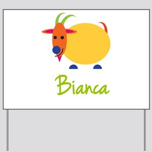 Bianca The Capricorn Goat Yard Sign