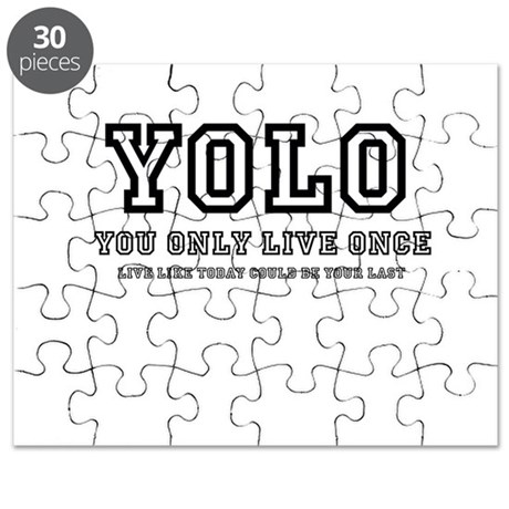 YOLO (You Only Live Once) Puzzle