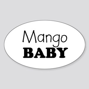 Mango baby Oval Sticker