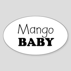Mango baby Oval Sticker