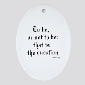 Shakespeare Oval Ornament