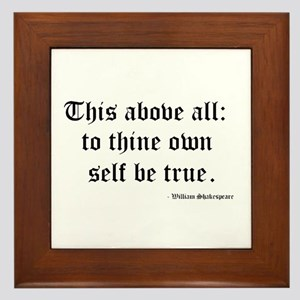 Shakespeare Framed Tile