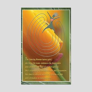 Dancing Woman Labyrinth (tm) Mini Poster Print