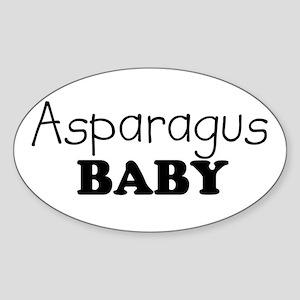 Asparagus baby Oval Sticker