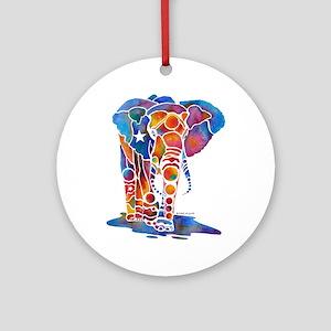 Whimzical Emma Elephant Ornament (Round)