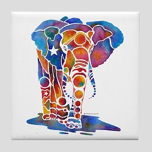 Whimzical Emma Elephant Tile Coaster