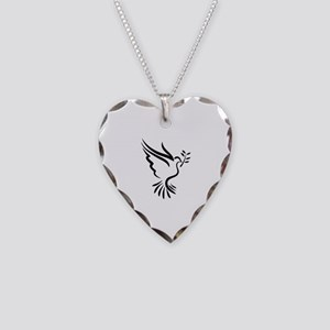 Dove Necklace Heart Charm