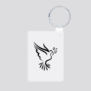 Dove Aluminum Photo Keychain