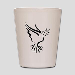 Dove Shot Glass