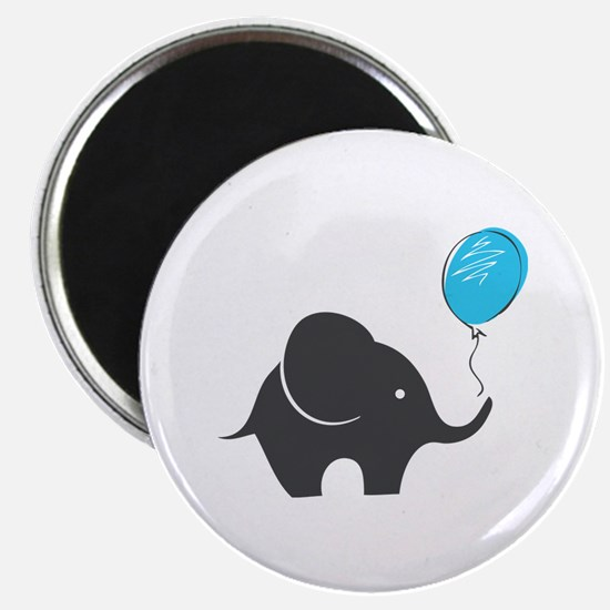 "Elephant with balloon 2.25"" Magnet (10 pack)"