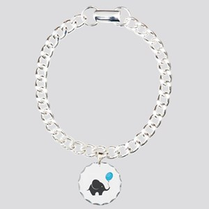 Elephant with balloon Charm Bracelet, One Charm