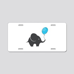 Elephant with balloon Aluminum License Plate