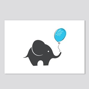 Elephant with balloon Postcards (Package of 8)