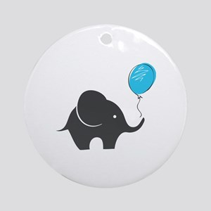 Elephant with balloon Ornament (Round)