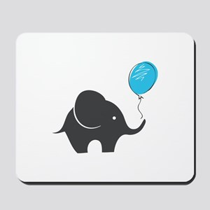 Elephant with balloon Mousepad