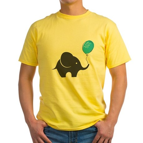 Elephant with balloon Yellow T-Shirt