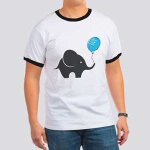 Elephant with balloon Ringer T