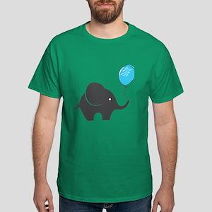Elephant with balloon Dark T-Shirt