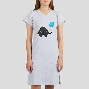 Elephant with balloon Women's Nightshirt