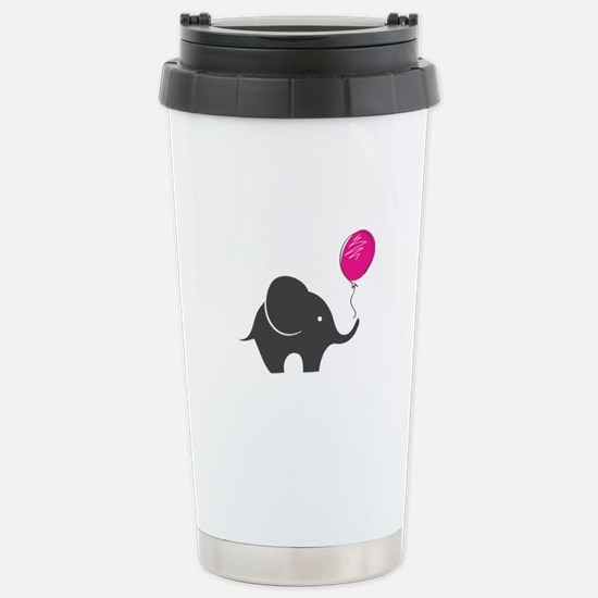 Elephant with balloon Stainless Steel Travel Mug