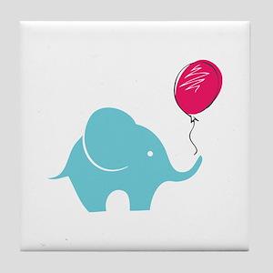 Elephant with balloon Tile Coaster
