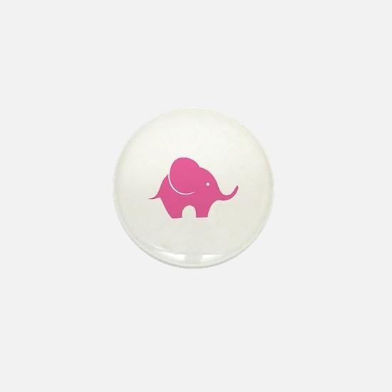 Elephant with balloon Mini Button