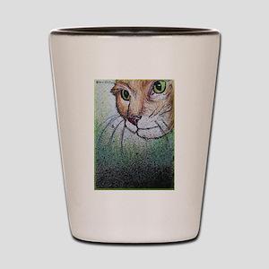Cat, pet, animal, art, Shot Glass