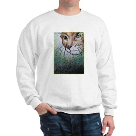 Cat, pet, animal, art, Sweatshirt