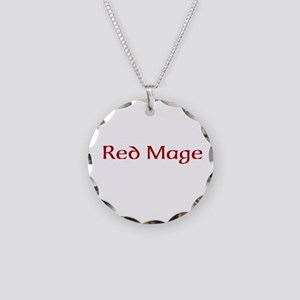 Red Mage Necklace Circle Charm