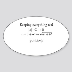 Keeping everything real v2 Sticker (Oval)