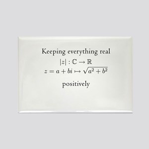 Keeping everything real v2 Rectangle Magnet