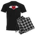 Winged Heart Couples Men's Dark Pajamas